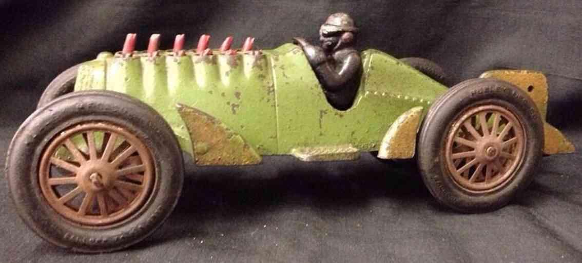 hubley spielzeug gusseisen rennauto rennwagen gruen