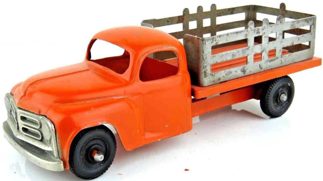 hubley stahlblech spielzeug rungen-lastwagen rot