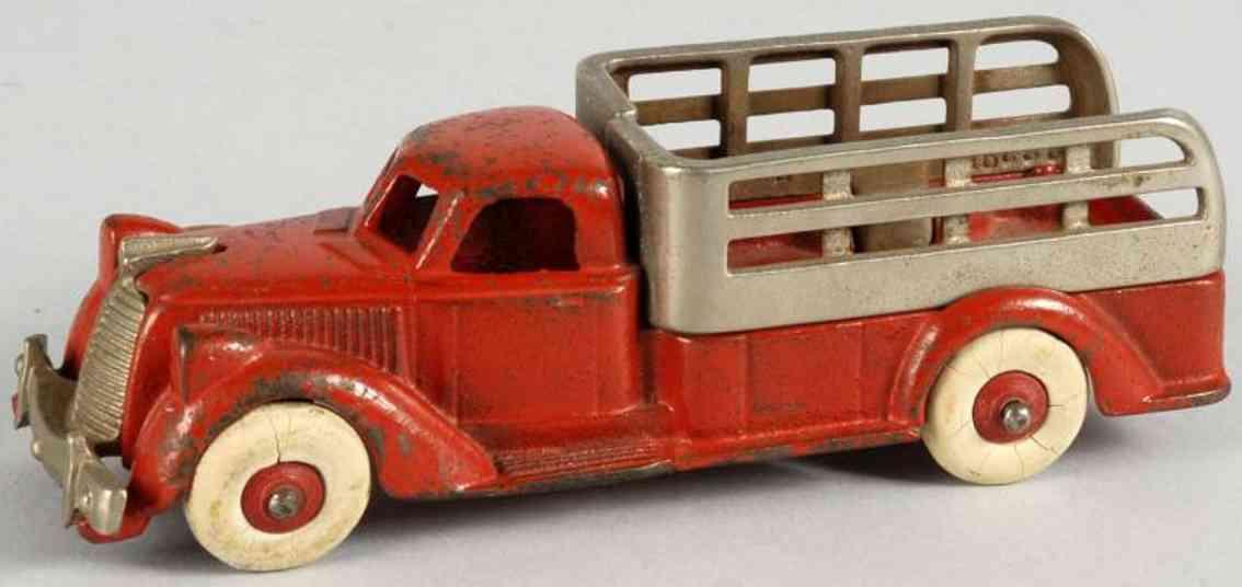hubley spielzeug gusseisen rungen lastwagen rot