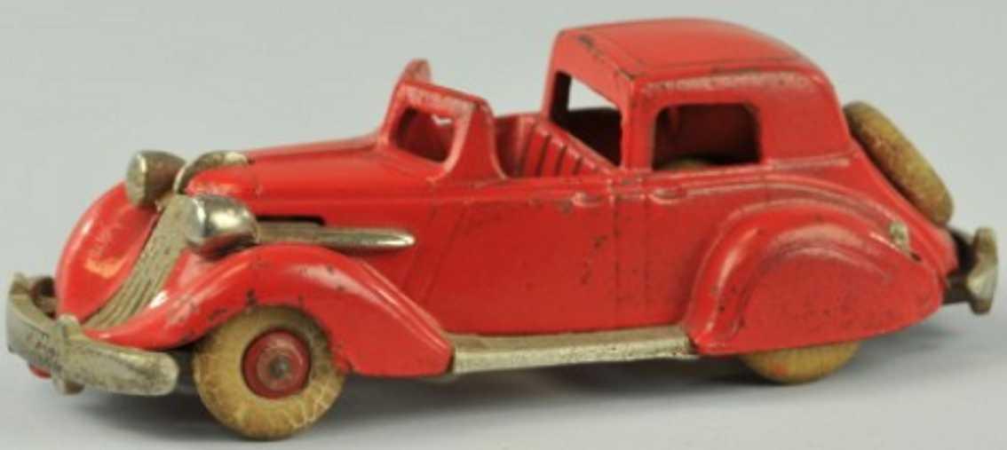 hubley 610 spielzeug gusseisen studebaker stadtauto rot