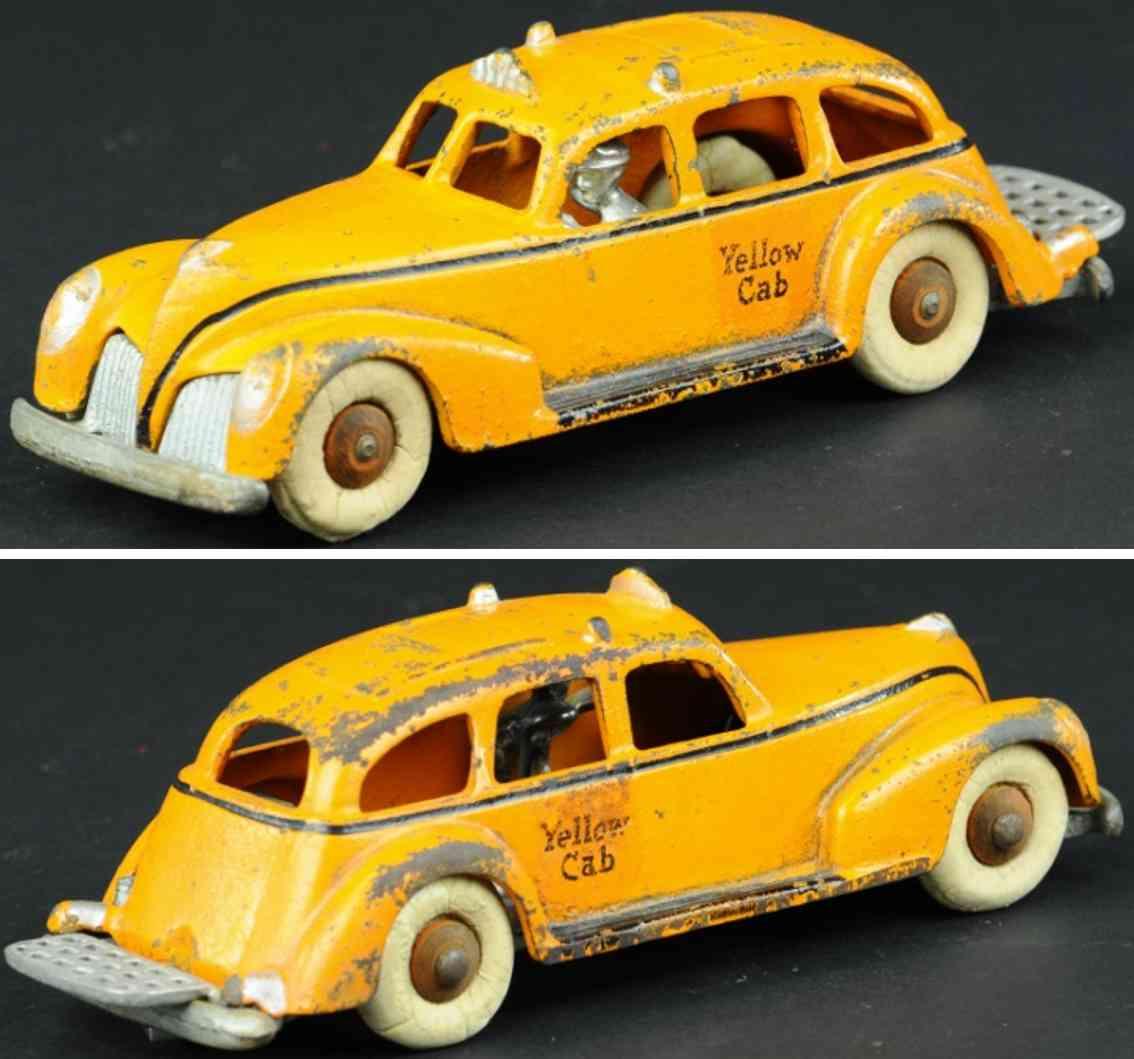 hubley spielzeug gusseisen taxi  orange