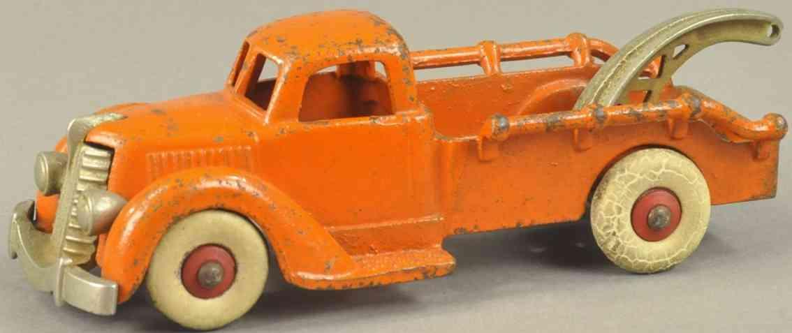 hubley spielzeug gusseisen abschleppwagen 10 tonnen orange
