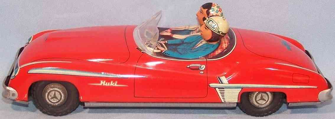 huki kienberger 190-5-1 tin toy car mercedes 190sl cabriolet red