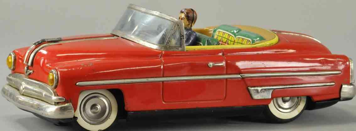 ichiko blech spielzeug auto ford cabriolet friktionsantrieb rot