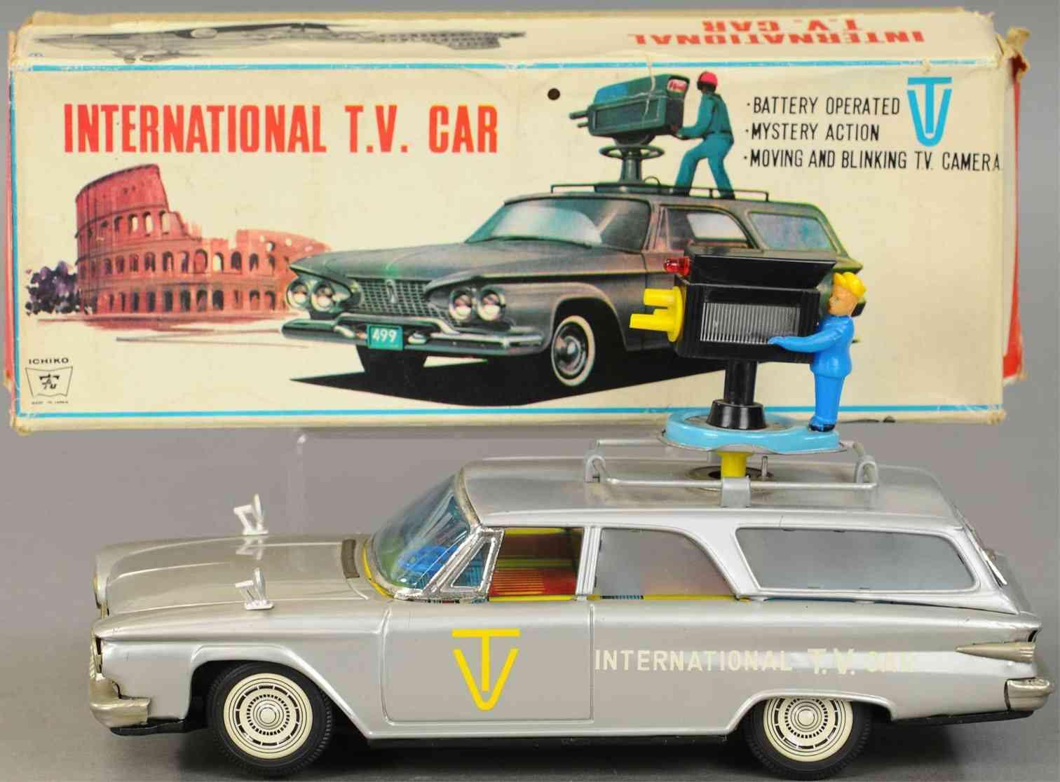 ichiko tin toy international tv car battery operated