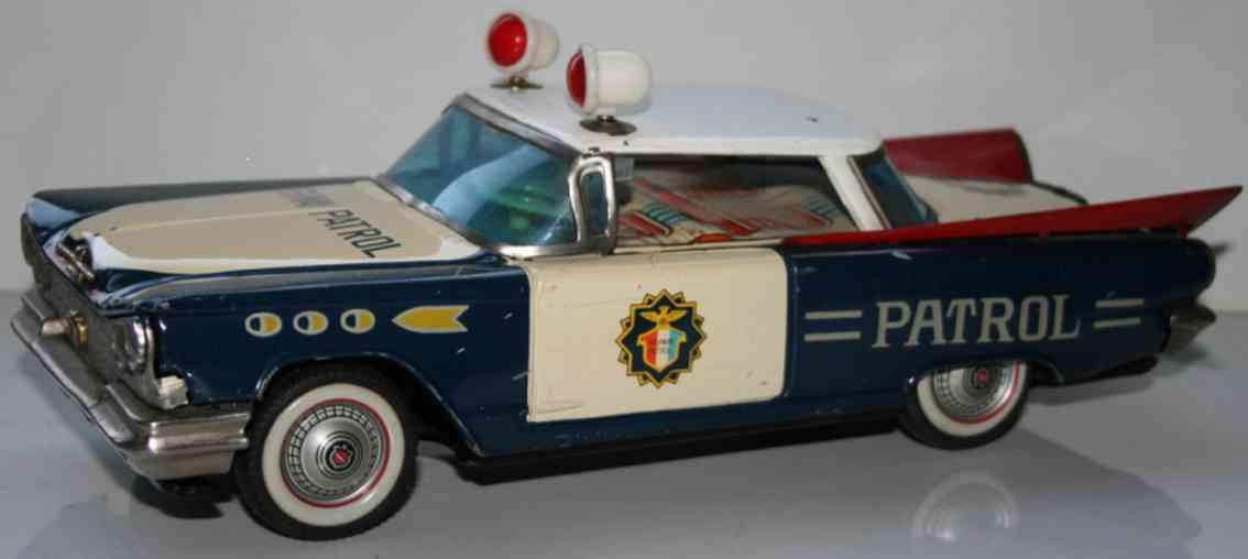 ichiko blech spielzeug autobahnpolizeiwagen mit friktionsantrieb buick