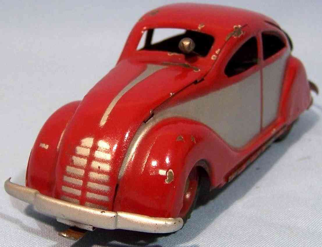 ingap 802 tin toy car padova wind-up streamline aerodynamic sedan