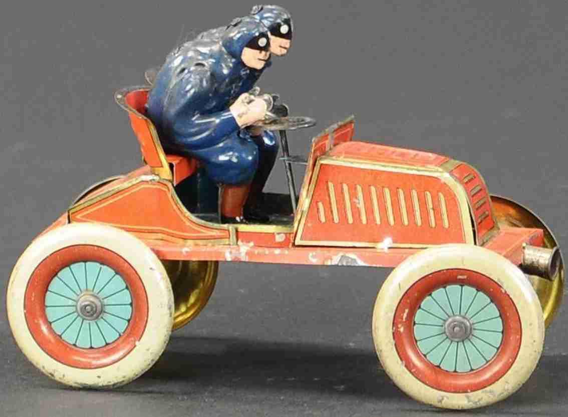 issmayer blech spielzeug rennauto renault rennwagen im gordon-bennett-stil rot