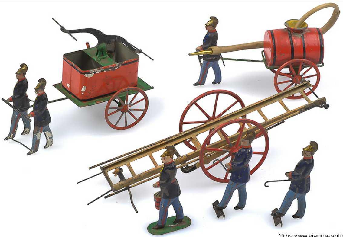 issmayer tin toy fire engine