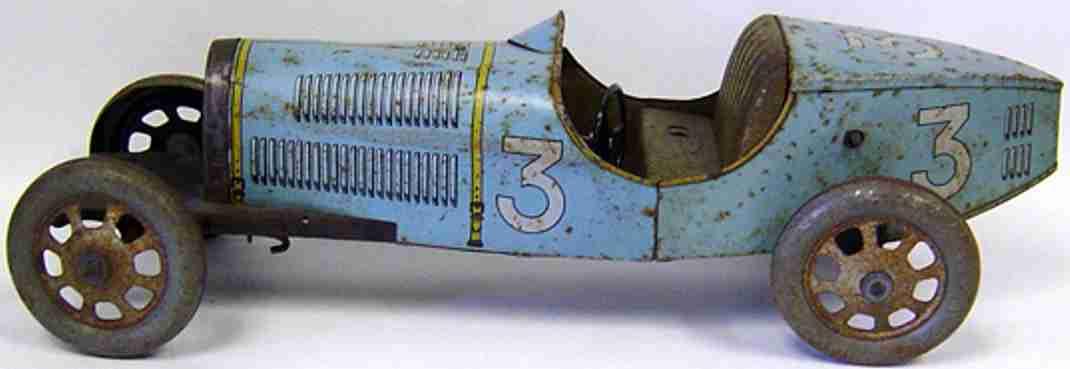 jep tin toy race car bugatti windup bugatti