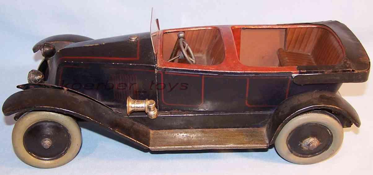 jep 7391-j tin toy car renault open touring car