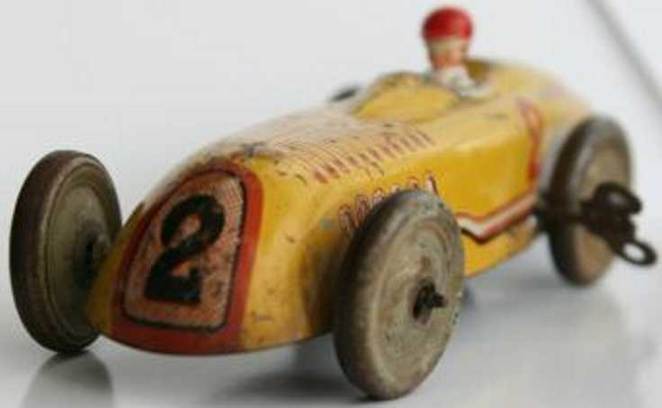 jep tin toy bugatti race car driver