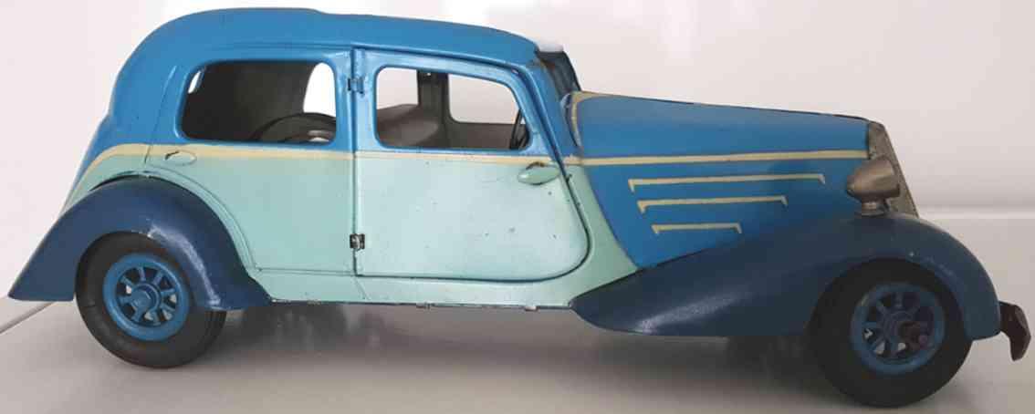 jep spielzeug auto limousine uhrwerk stahlblech 2-farbig blau