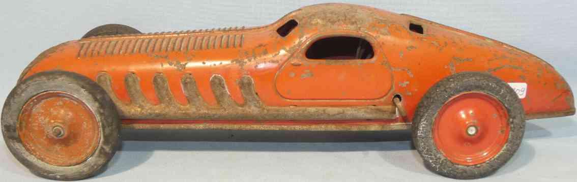jep rot blech spielzeug rennauto rennwagen gummiraeder uhrwerk rot
