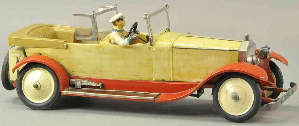 jep blech spielzeug auto rolls royce lusxus fahrer uhrwerk