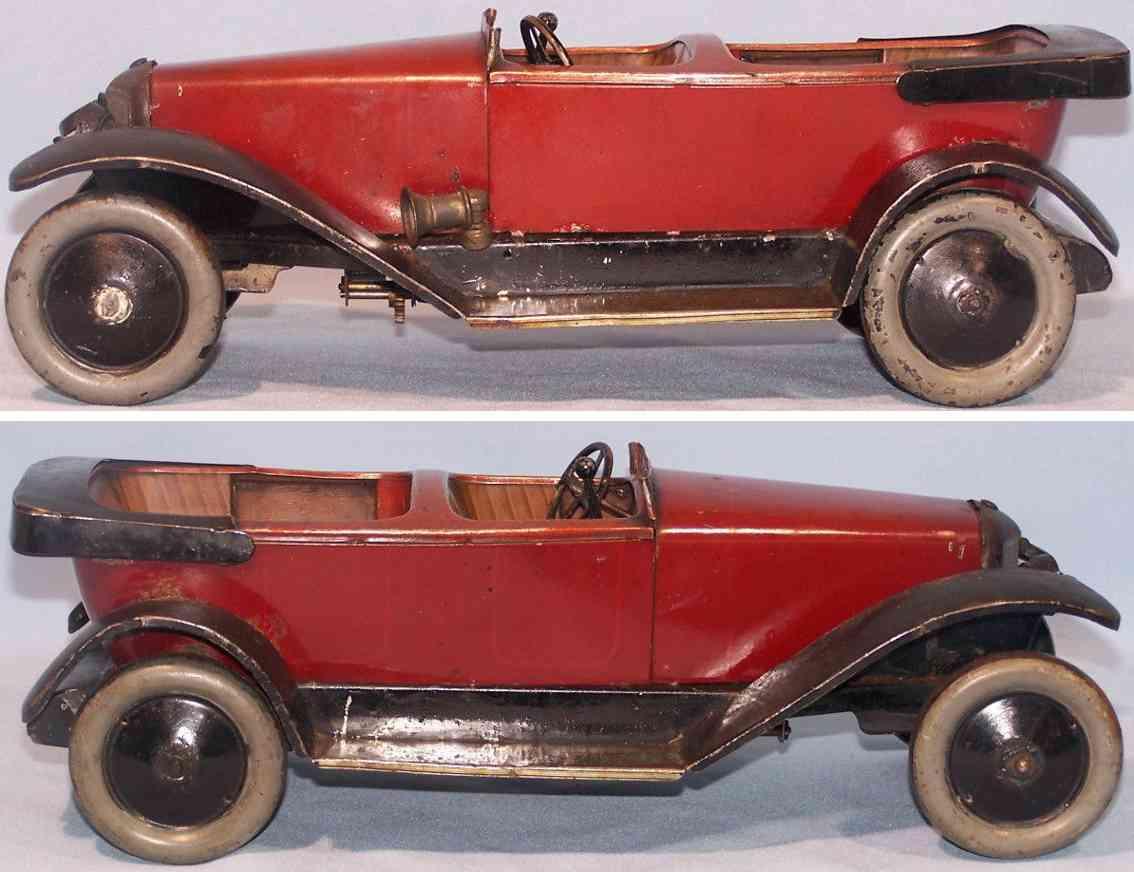 jep tin toy car cabrio limousine red