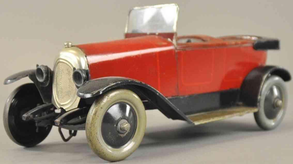 jep blech spielzeug auto delaunay belleville rotbraun cabrio