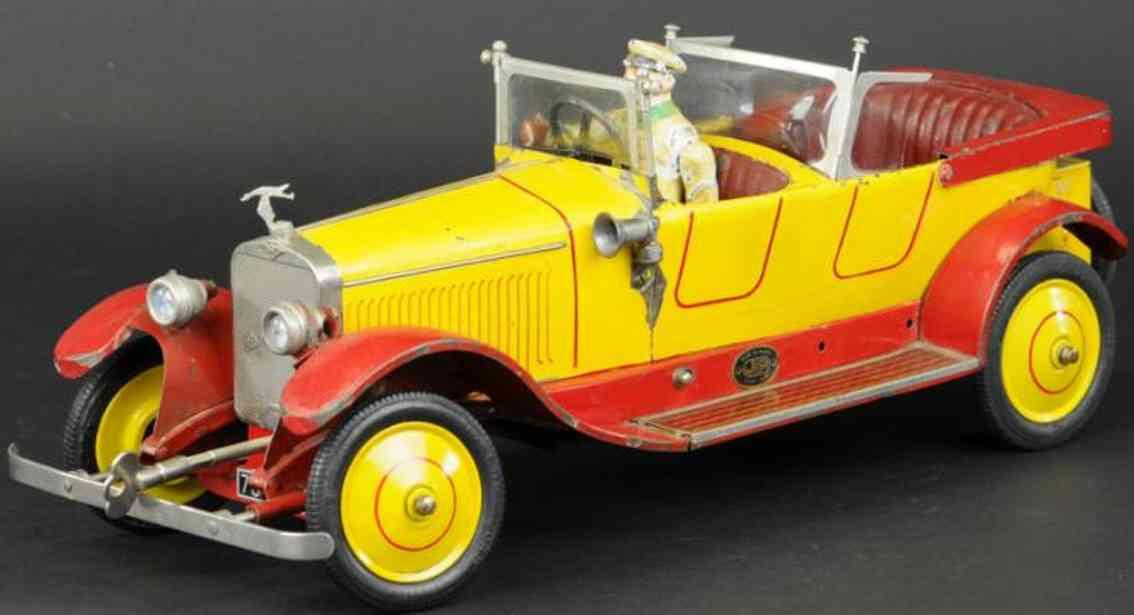 jep weissblech spielzeug hispana suiza luxusauto rot gelb