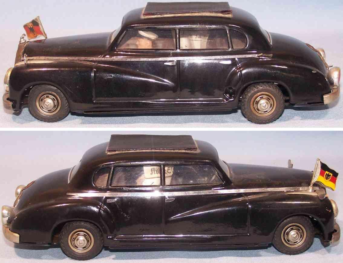 jnf neuhierl 0-002 blech spielzeug auto adenauer mercedes schwarz