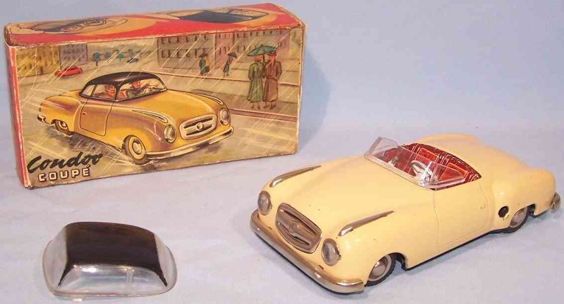 jnf neuhierl 59 tin toy car condor cabrio coupe closed mercedes 190sl