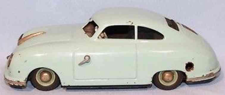 jnf neuhierl 356 blech spielzeug auto porsche tuerkis