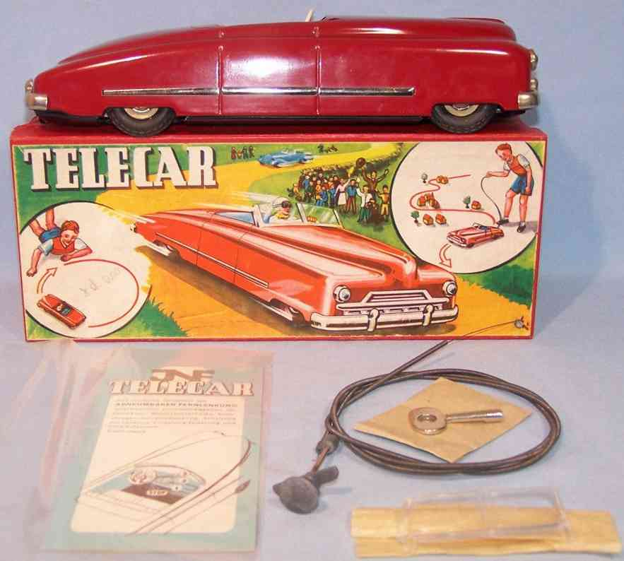 jnf neuhierl 48 blech spielzeug auto telecar uhrwerk rot