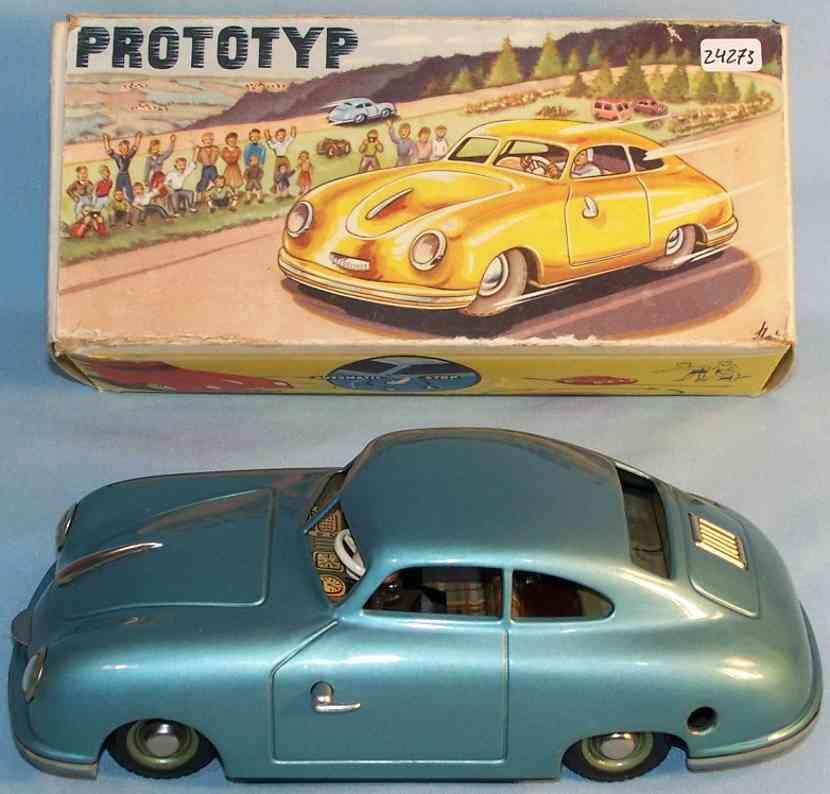 jnf neuhierl 56 tin toy car porsche prototype silver  gray