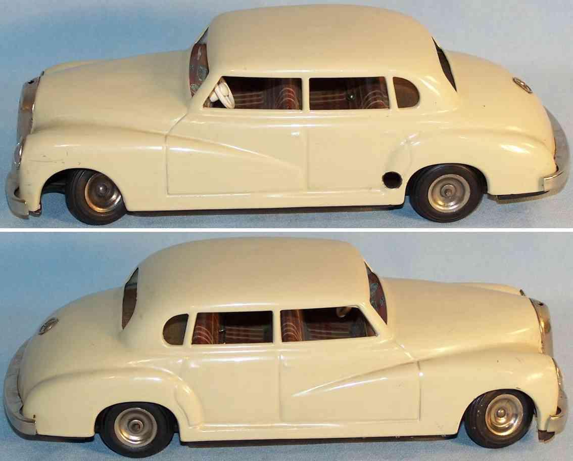 jnf neuhierl 67 tin toy car mercedes m 300 clockwork beige
