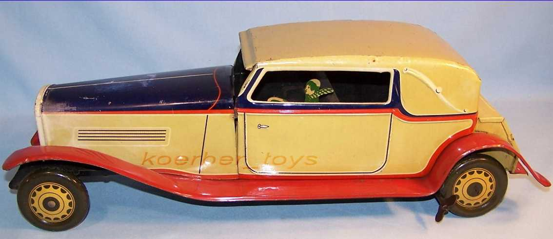 jnf neuhierl 77135 blech spielzeug auto limousine fahrer beige