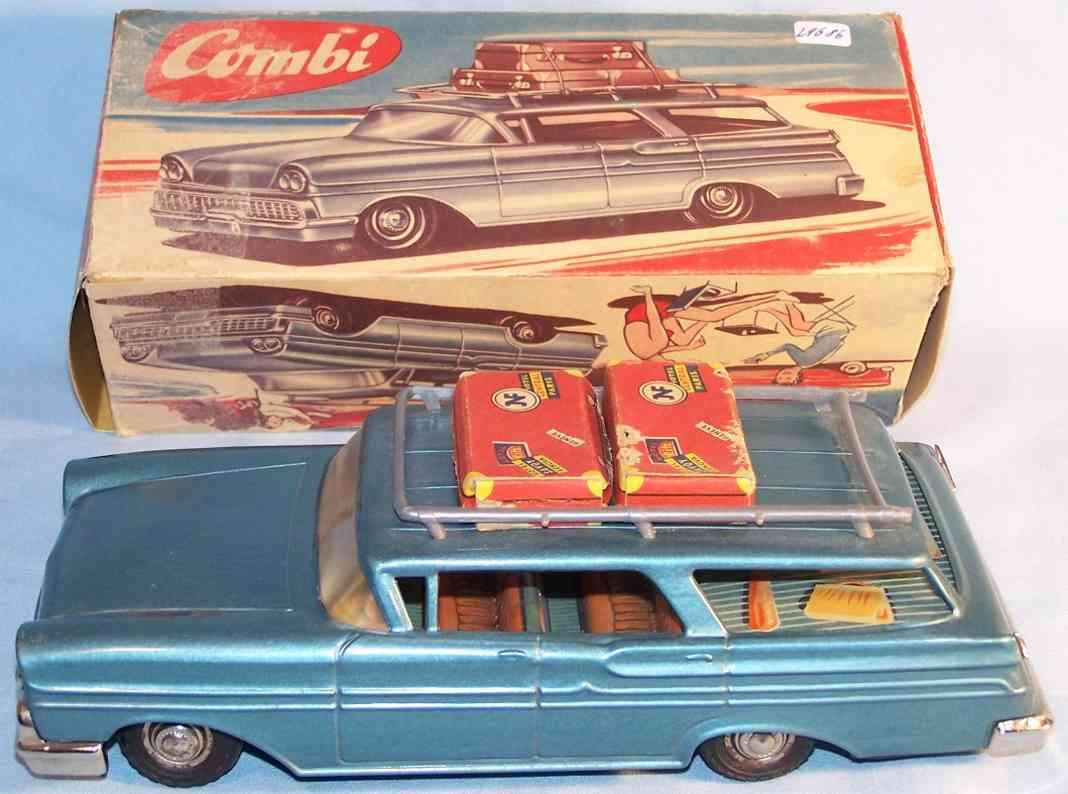 jnf neuhierl 86F tin toy car station wagon blue metallic