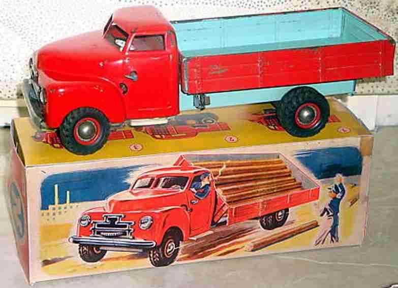 jnf neuhierl 71 tin toy truck lastomatic clockwork