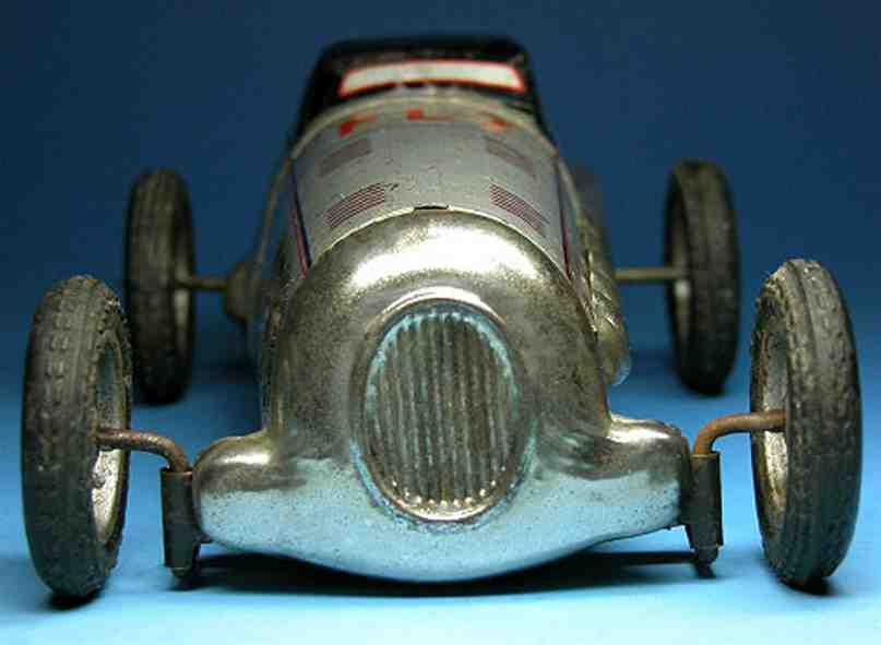 JNF Neuhierl 12-Zylinder Rennwagen mit Uhrwerk in silber