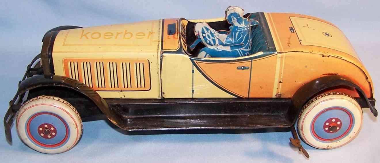 jnf neuhierl tin toy car cabriolet brightness-yellow