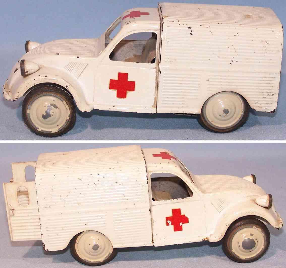 jrd blech spielzeug krankenwagen schwungrad