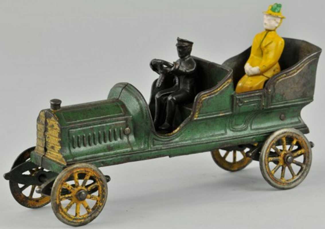 jones & bixler cast iron toy car auto green