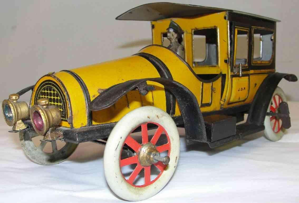 jouet blech spielzeug auto taxi mit fahrer, lampen und lenkrad