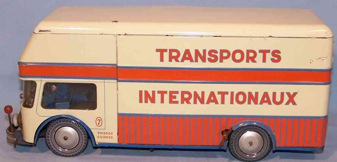 joustra 432 blech spielzeug le routier franzoesischer transporter uhrwerk