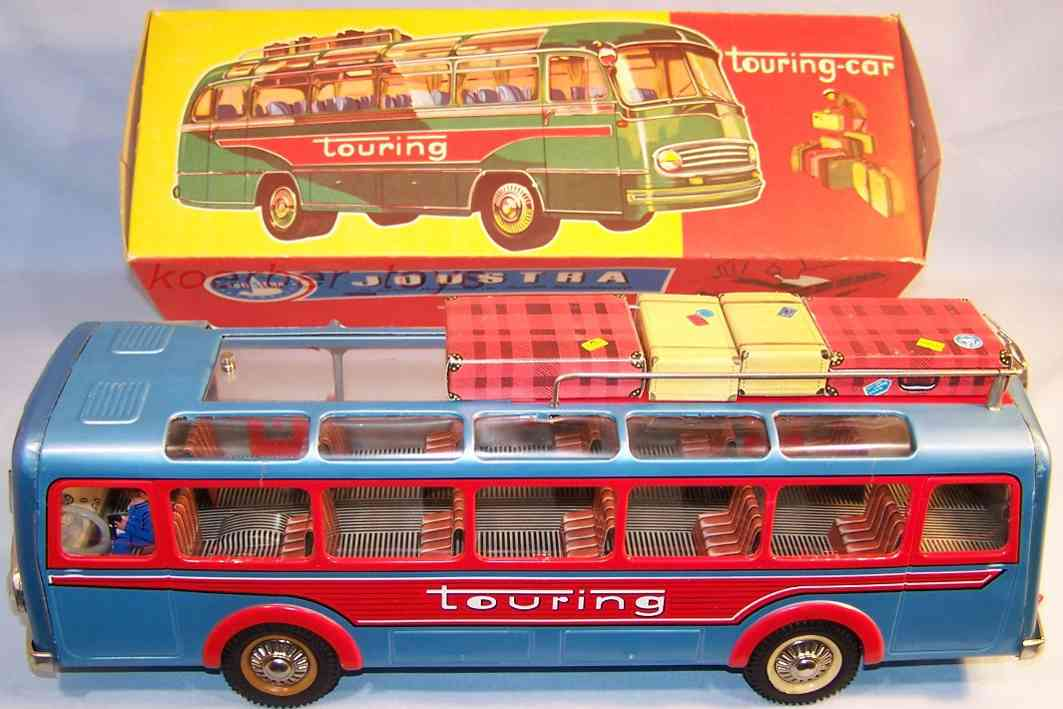 Joustra 607 Bus in blue metallic and red