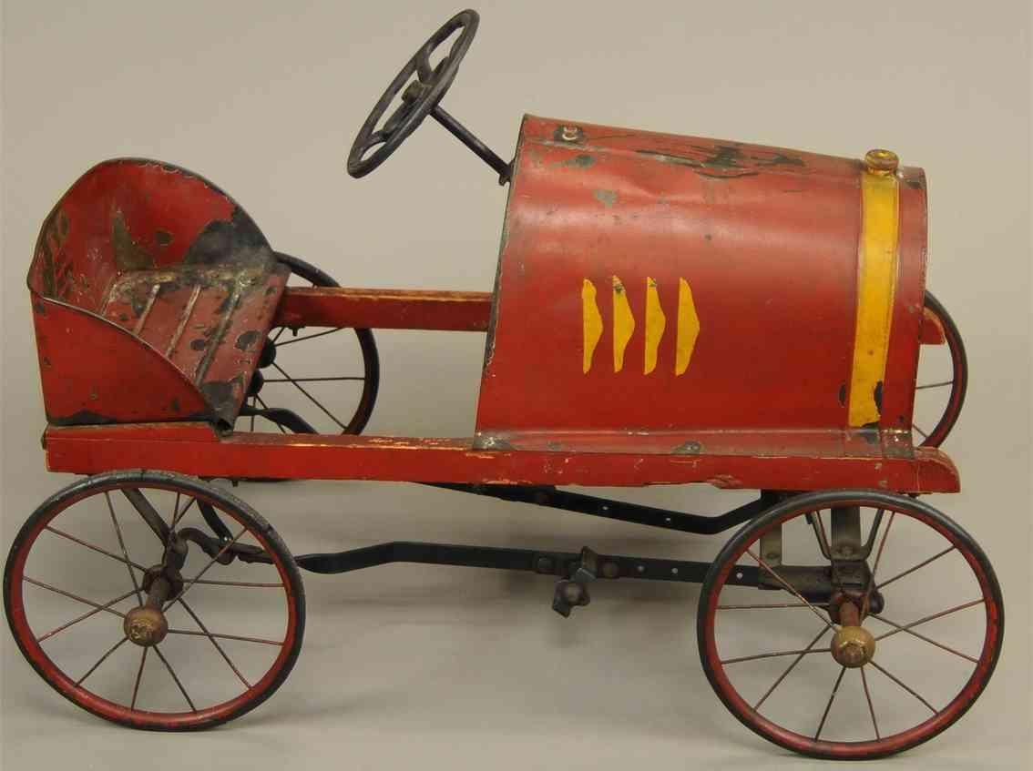 jowett motor manufacturing co blech spielzeug jugendliches tretauto in rot
