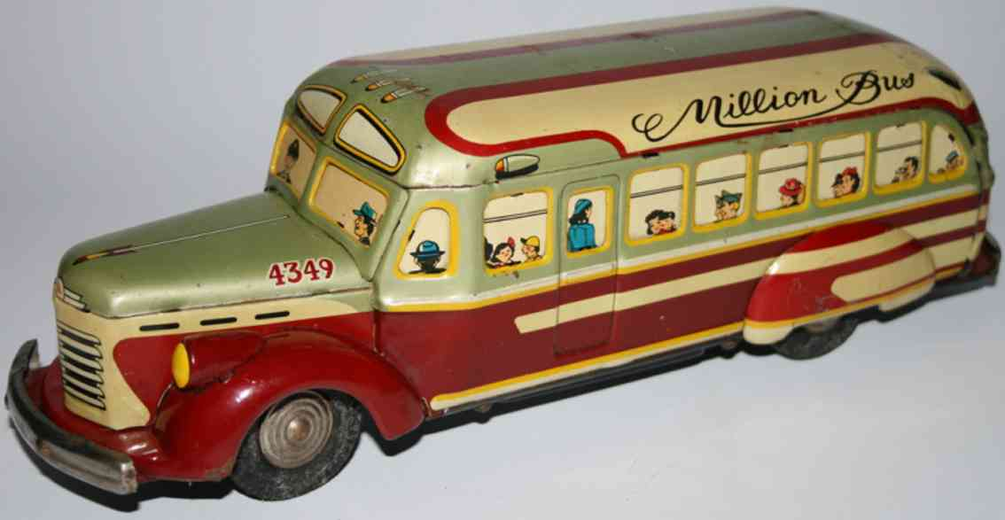 kato sairen kkk tin toy bus japanese tin million bus