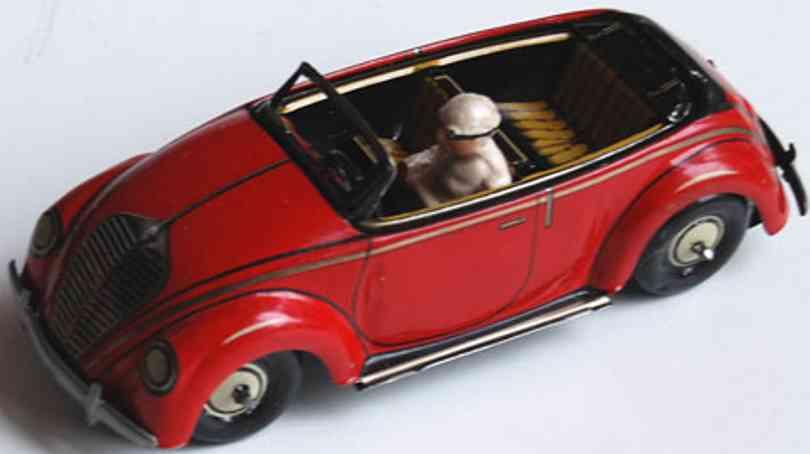 kellermann 358 blech spielzeug cabrio verwandlungsauto uhrwerk