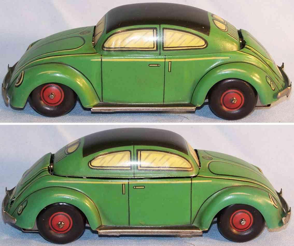 kellermann 359 blech spielzeug auto käfer wendecabriolet gruen