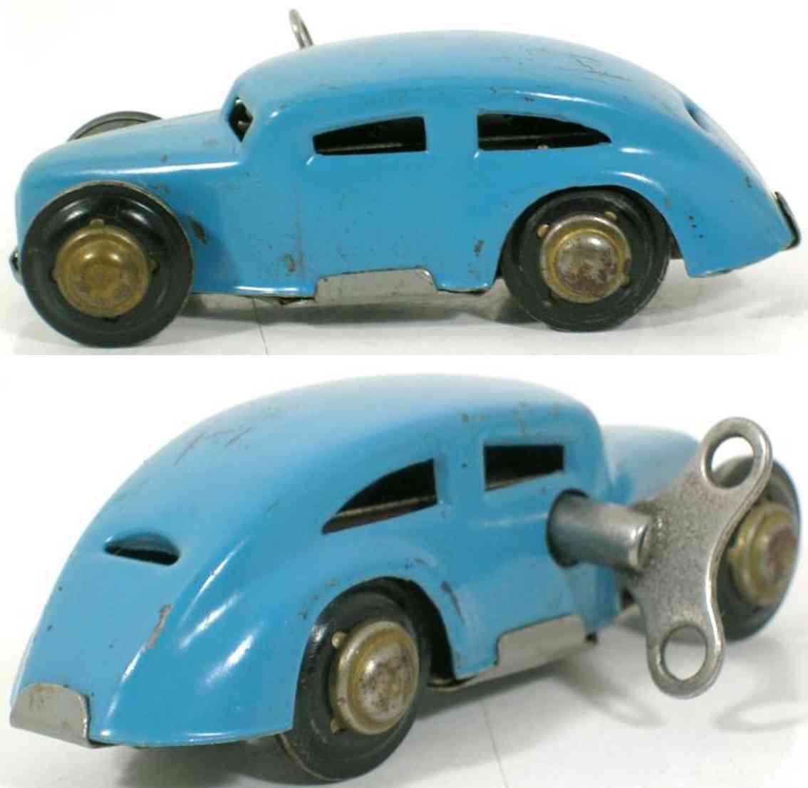 kellermann 363 blech spielzeug miniatur-auto blau uhrwerk