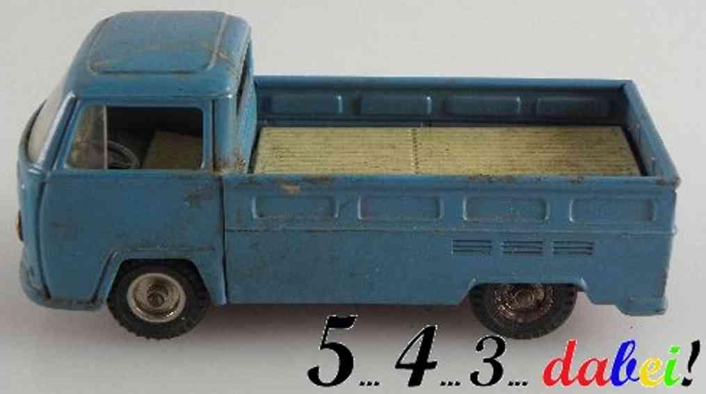 kellermann 398 blech spielzeug autobus vw-transporter schwungrad blau