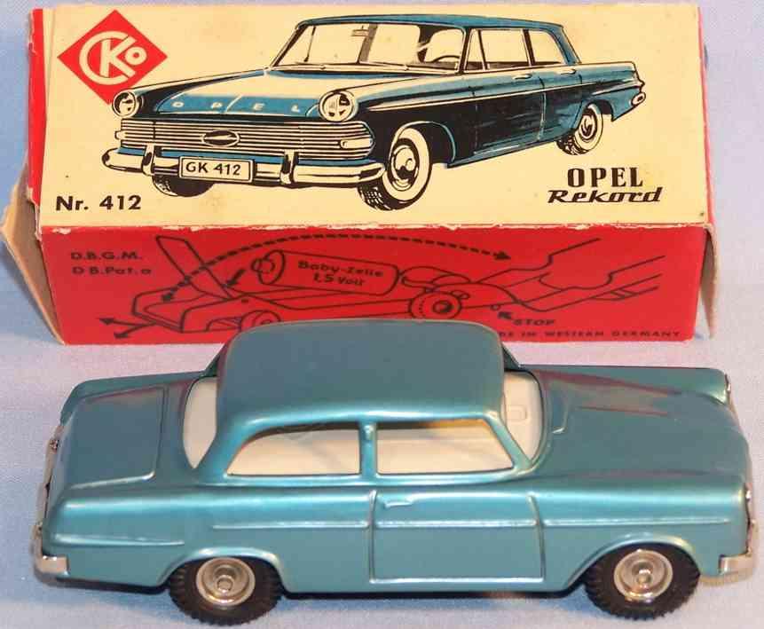 Kellermann 412 Opel Rekord Electric in blaumetallic