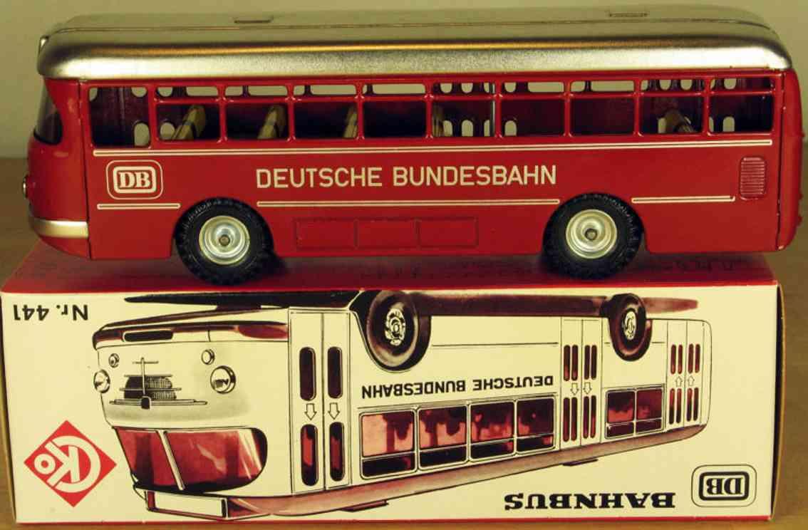 kellermann 430 blech spielzeug autobus büssing trambus mit friktionsantrieb in rot