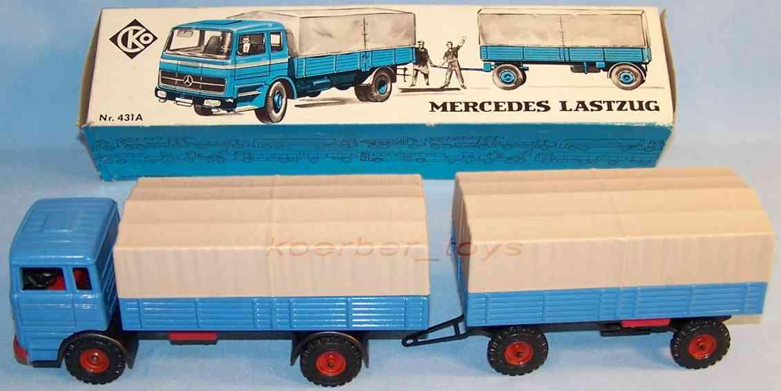 kellermann 431a blech spielzeug mercedes lastwagen mit friktionsantrieb