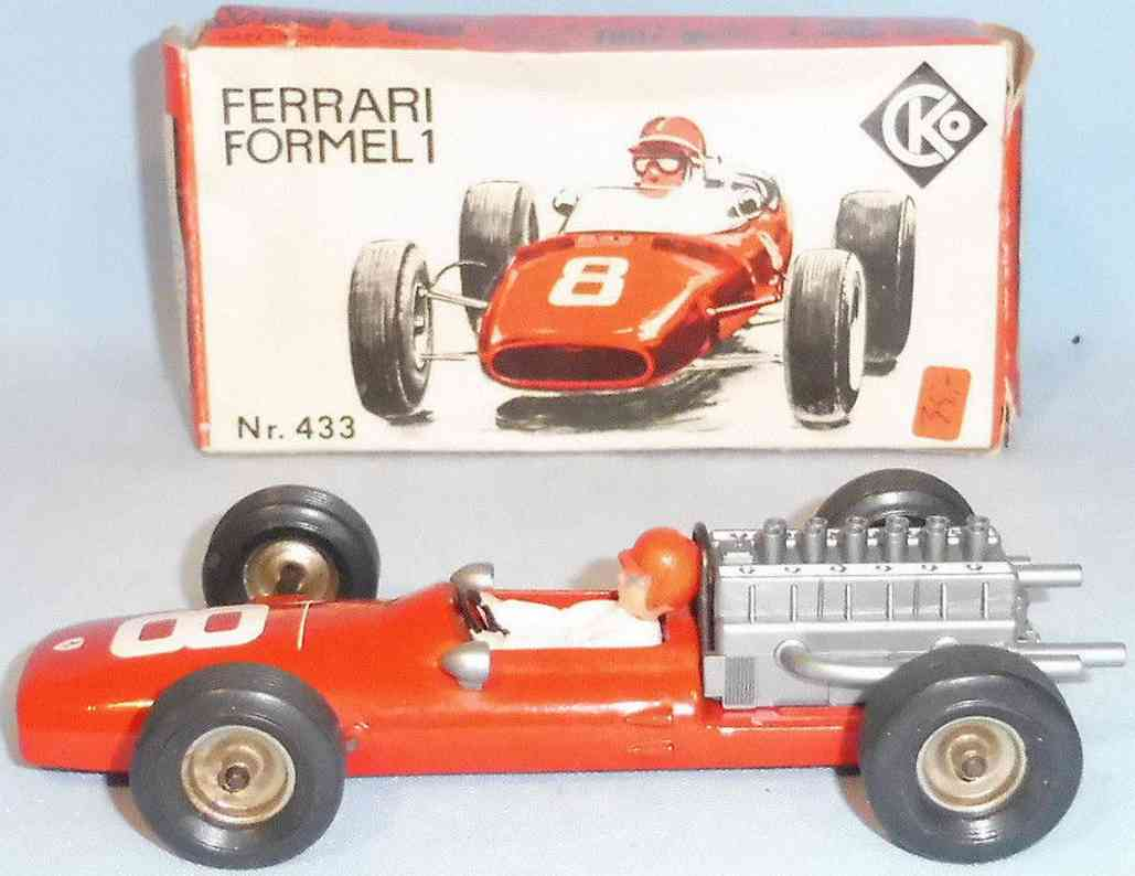kellermann 433 blech spielzeug rennauto formel 1 rennwagen rollo series