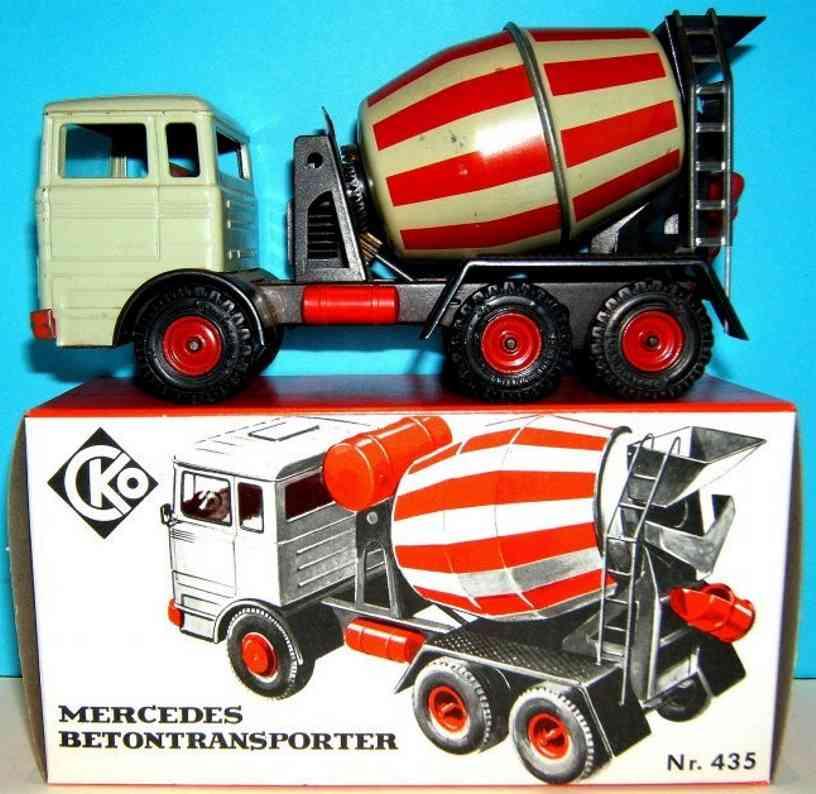 kellermann 435 blech spielzeug mercedes betontransporter mit friktionsantrieb