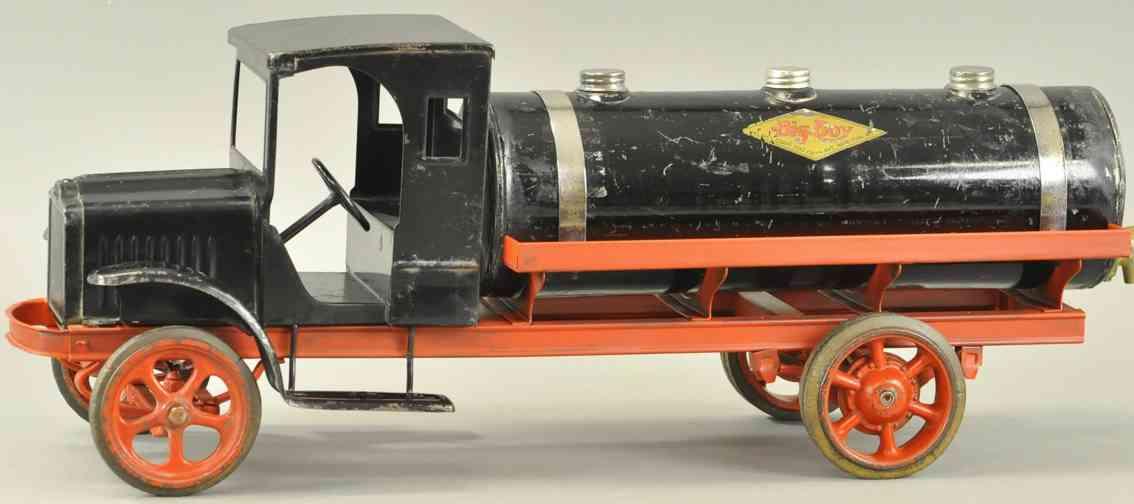 kelmet stahlblech spielzeug tanklastwagen schwarz big boy